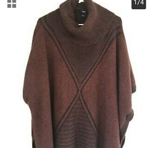 Mossimo turtleneck poncho brown XL